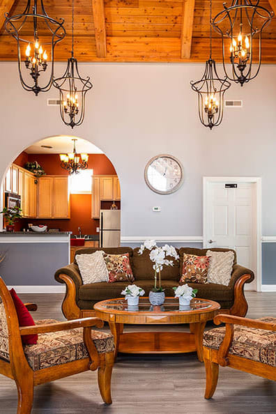 Beautiful clubhouse at apartments in Dover, Delaware