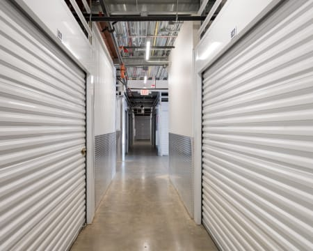 Hallway of the facility at StorQuest Self Storage in Federal Way, Washington