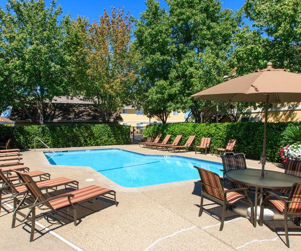 Swimming pool at Heather Ridge in Orangevale, California