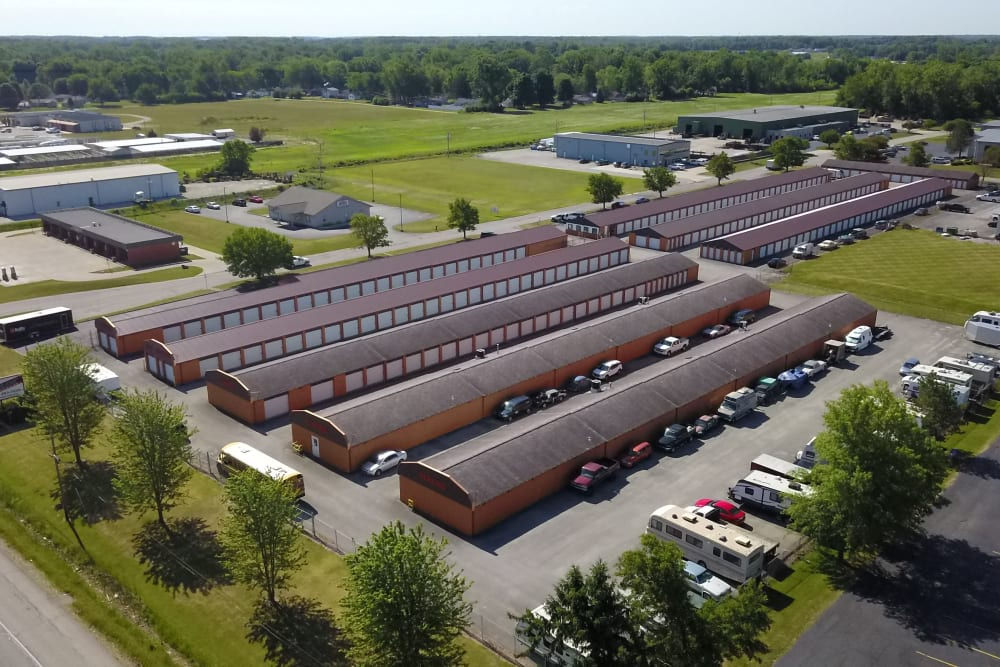 Aerial view of the units at StayLock Storage in Fort Wayne, Indiana
