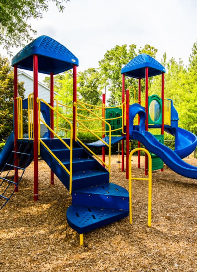 Enclosed children's playground area at Marquis on Cary Parkway in Morrisville, North Carolina