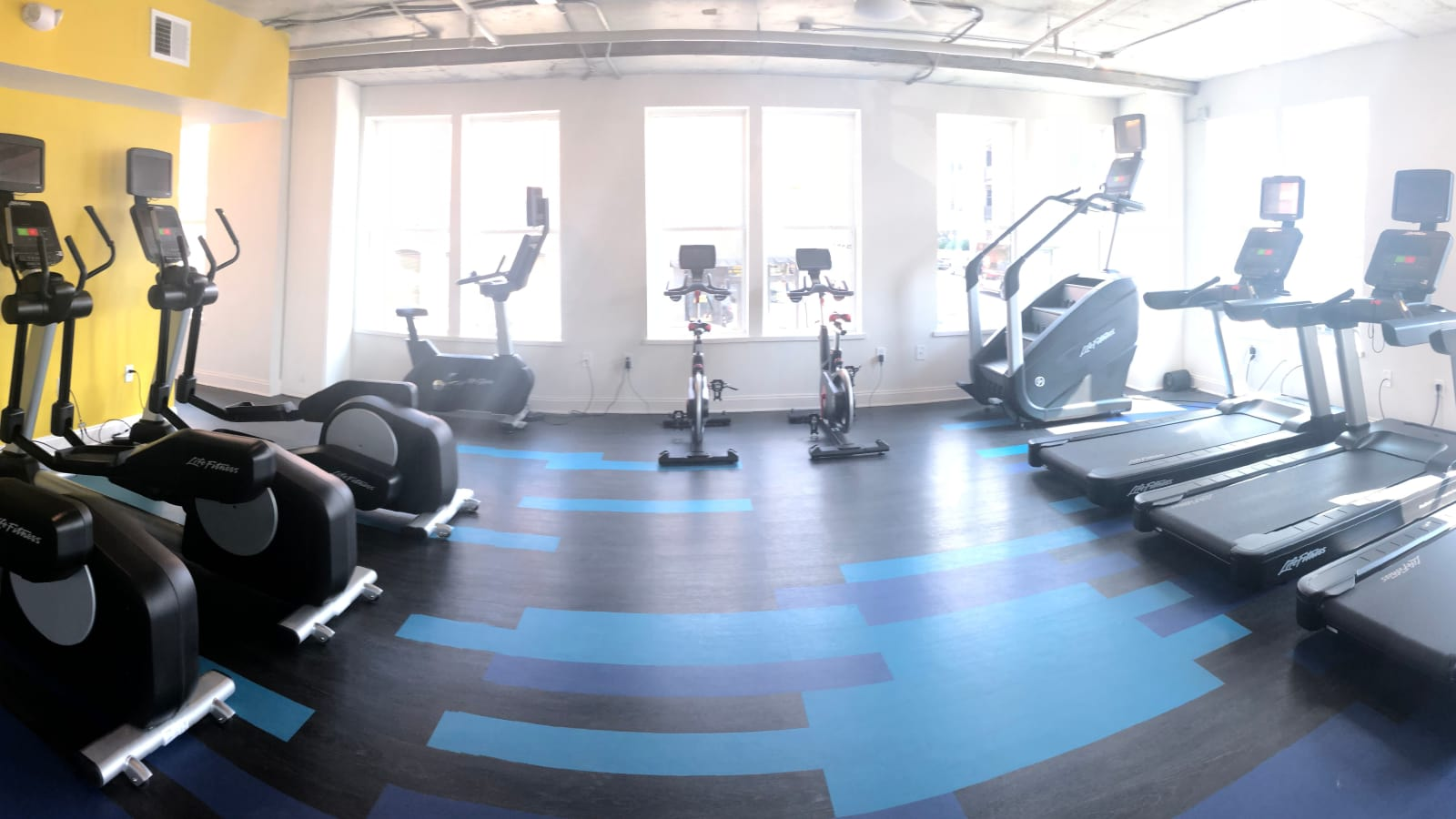 Luxury fitness center at The Edge in Richmond, Virginia
