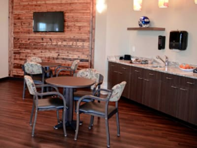 cafe dining area at Aspen Valley Senior Living in Boise, Idaho