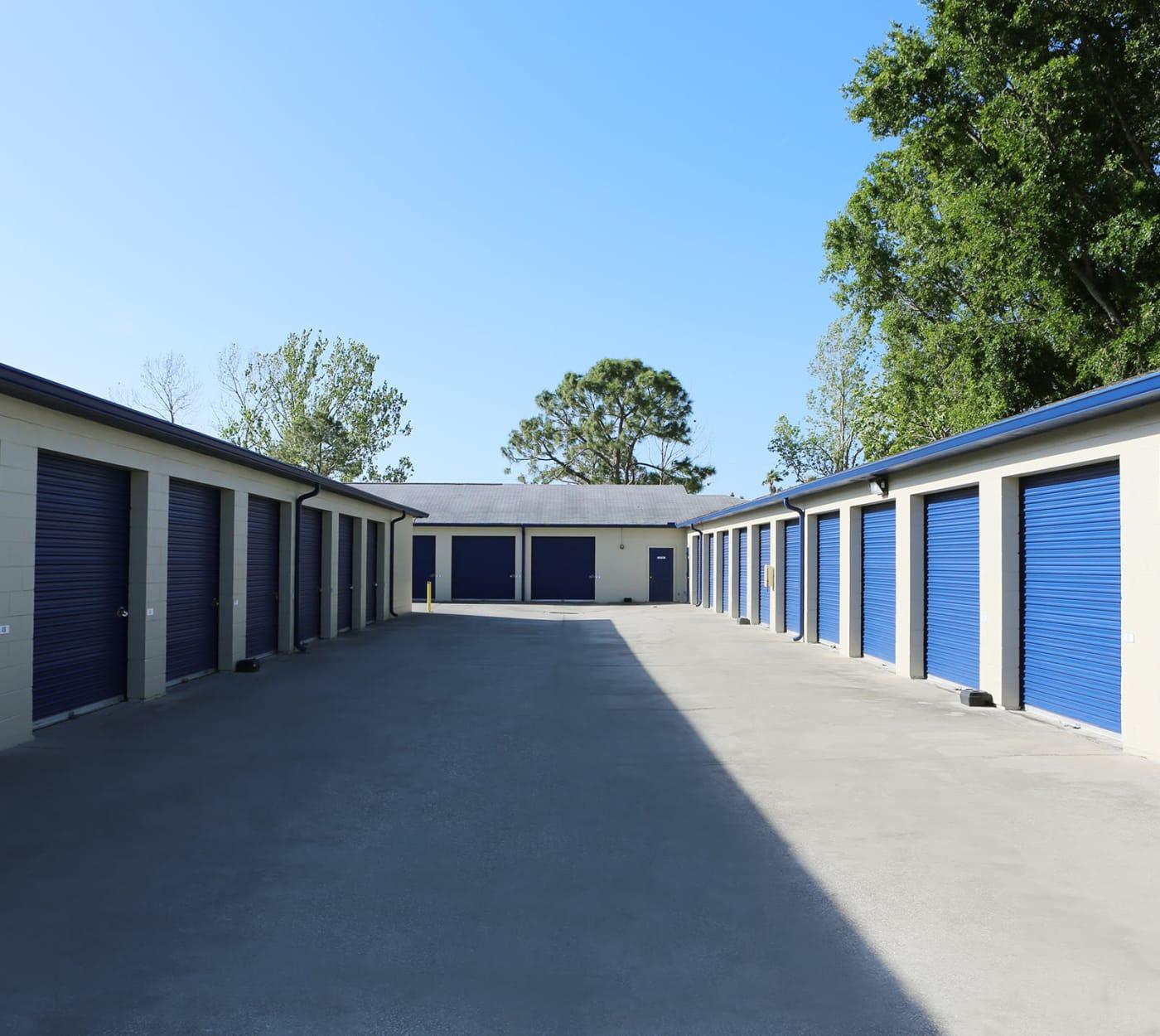 Ground-floor unit at Midgard Self Storage in Tanner, Alabama