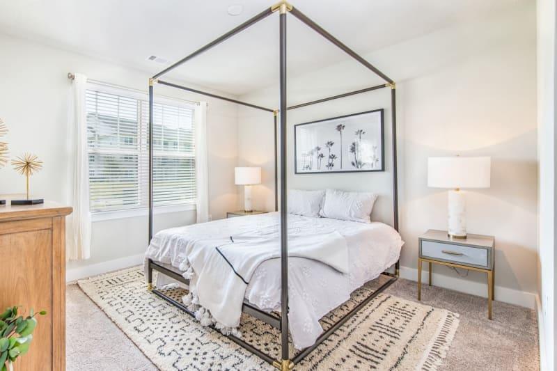 Spacious bedroom and closet layout at The Mason in Ladson, South Carolina
