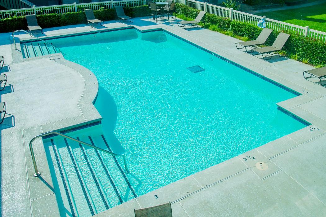 Beautiful pool at Riverpark Apartments in Tulsa, Oklahoma