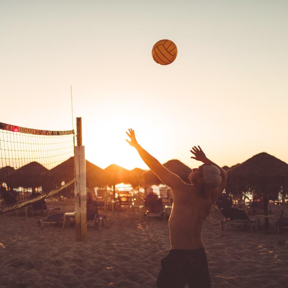 Sand volleyball court near Portside Ventura Harbor in Ventura, California