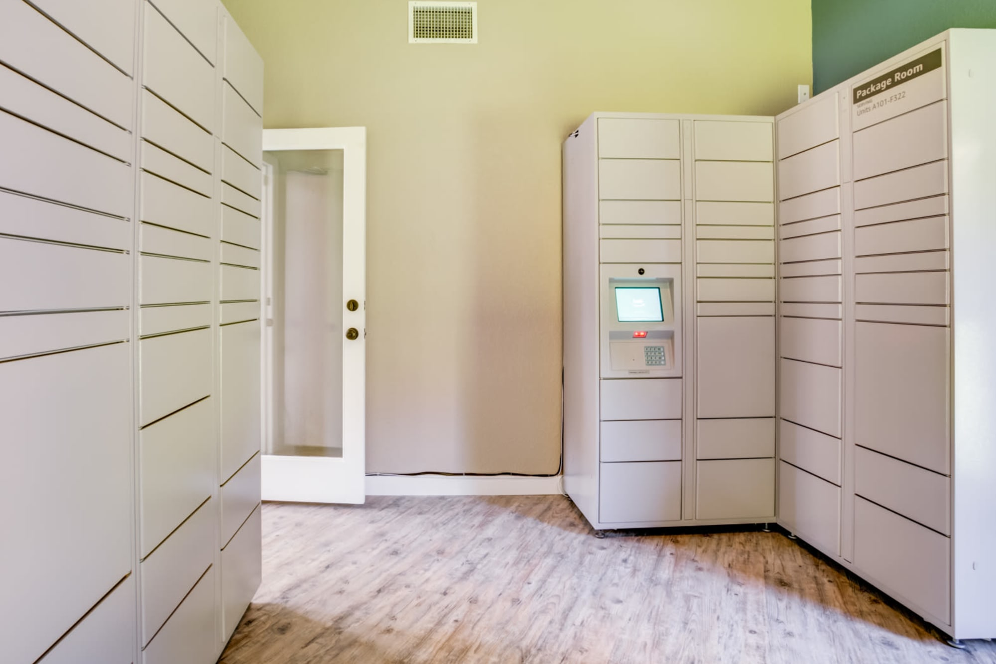 24-hour package lockers at Serramonte Ridge Apartment Homes in Daly City, California