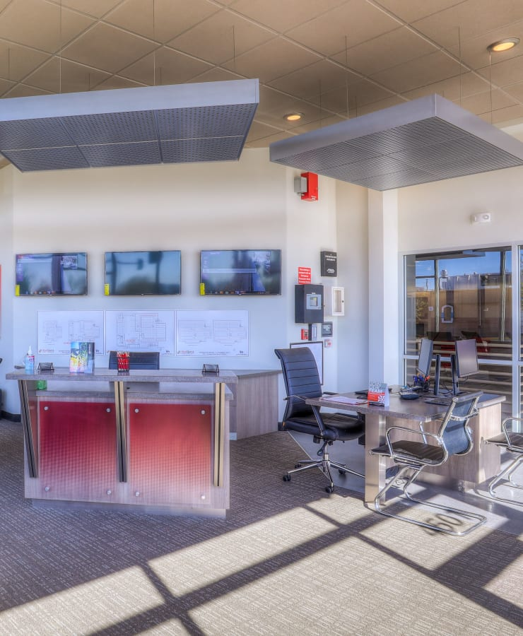 Interior of the leasing office at StorQuest Self Storage in Denver, Colorado