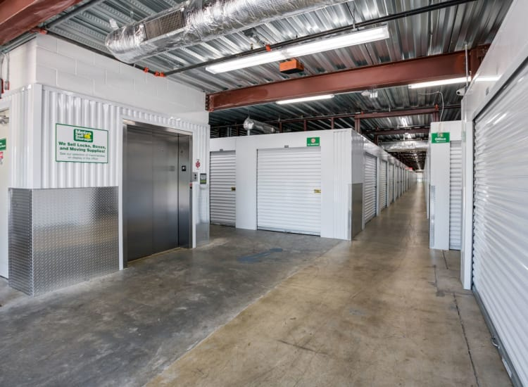 Indoor storage units at Metro Self Storage in Orlando, Florida