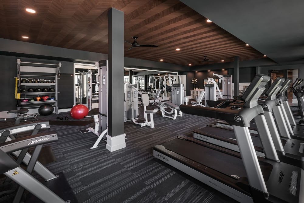 Onsite fitness center at The Astor at Osborn in Phoenix, Arizona