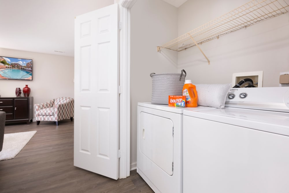 Washer and dryer in unit at Ascend @ 1801 in Charlotte, North Carolina