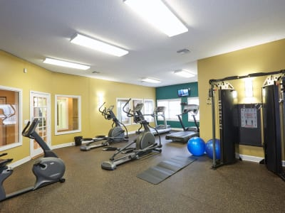 Stay healthy in the Middletown Ridge Apartments fitness center in Middletown, Connecticut