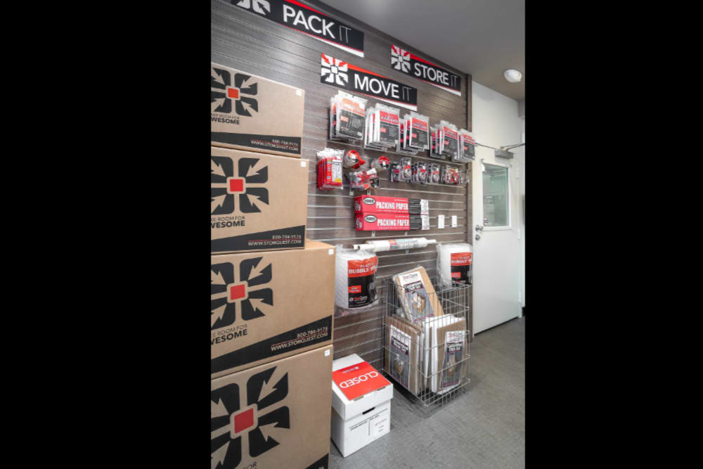 Packing supplies available at StorQuest Self Storage in Los Angeles, California