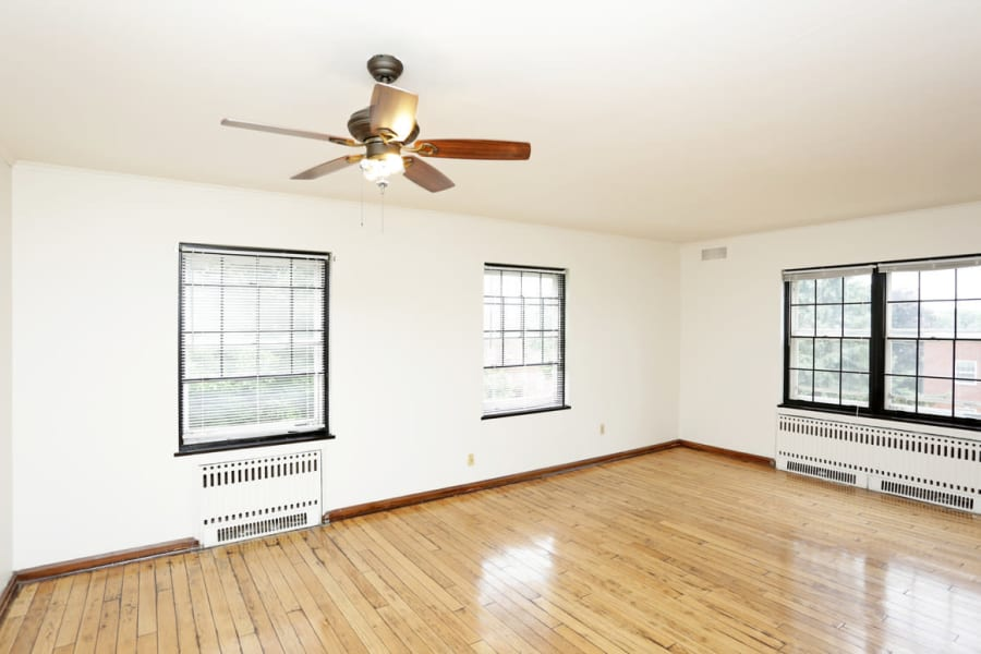 Large open living room in Des Moines, Iowa at Windsor Terrace
