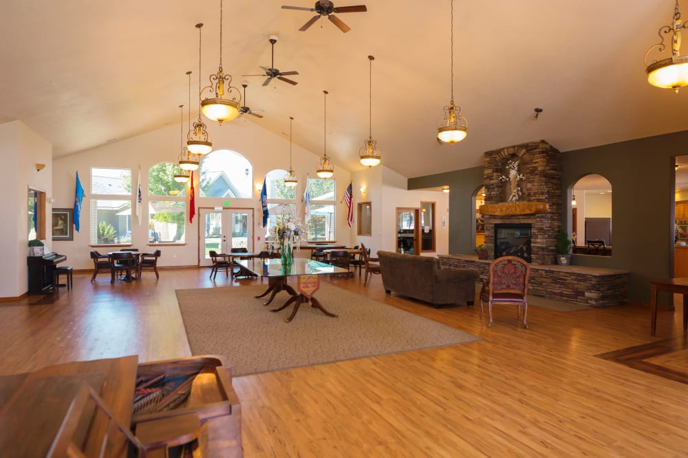 Common room at Generations Assisted Living in Rathdrum, ID