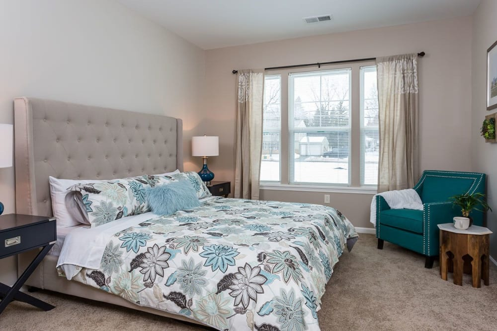 Master Bedroom of Townhome at The Marquis at the Woods