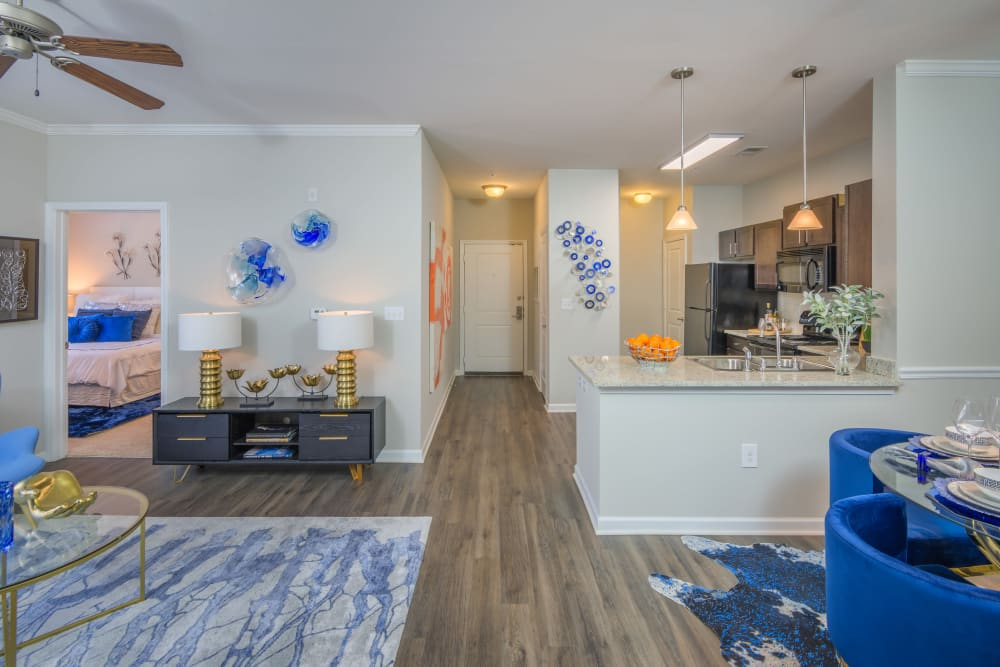 Sterling Town Center model home open concept living space in Raleigh, North Carolina