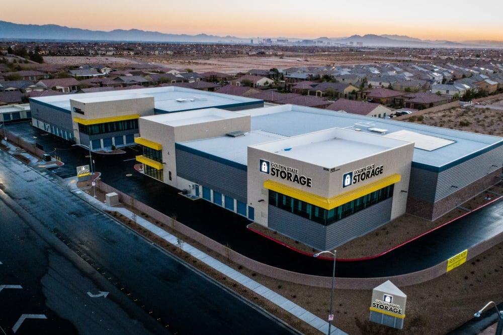Aerial view of Golden State Storage - Blue Diamond in Las Vegas, Nevada