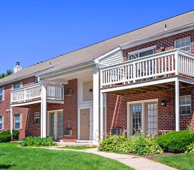 Exterior of apartments at The Reserve at Copper Chase in York, PA