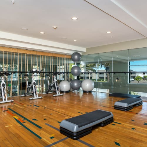 Fitness club at Olympus Corsair in San Diego, California