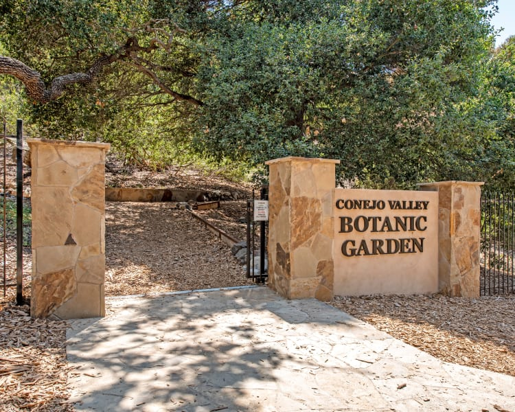 Entrance to the Conejo Valley Botanic Garden near Sofi Thousand Oaks in Thousand Oaks, California