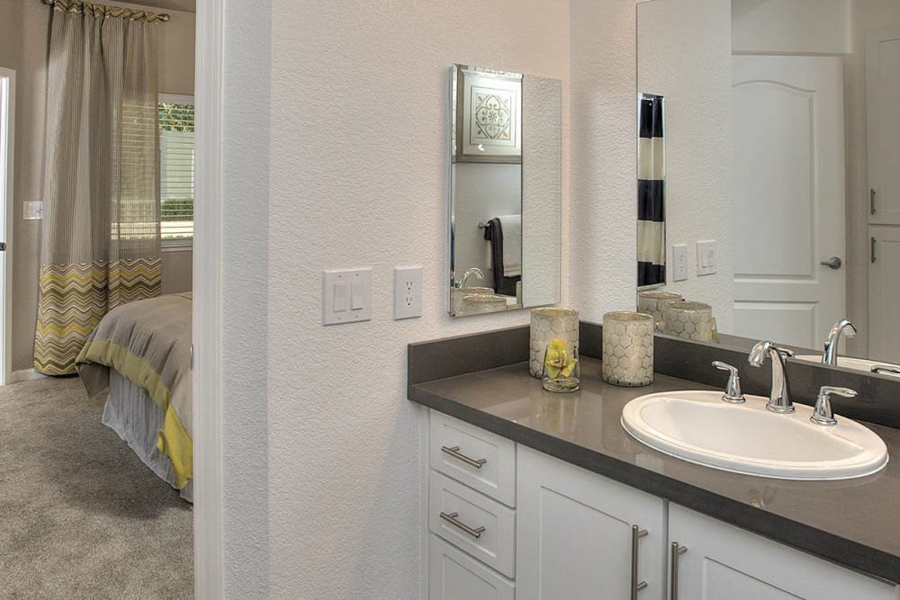 Master bathroom at Iron Point at Prairie Oaks in Folsom, California