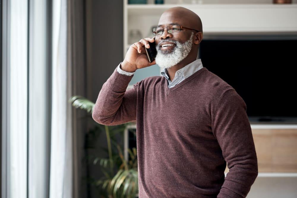 Senior man on phone in Centralia, WA