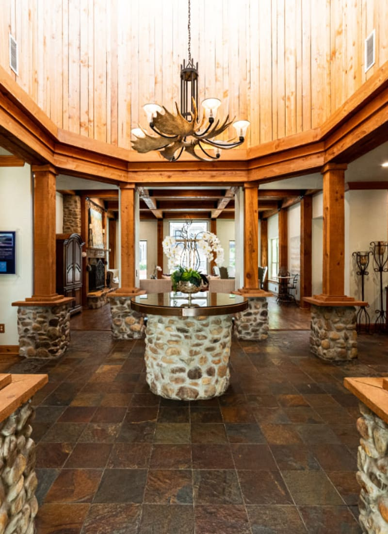 Lobby entrance at Marquis at Lantana in Flower Mound, Texas