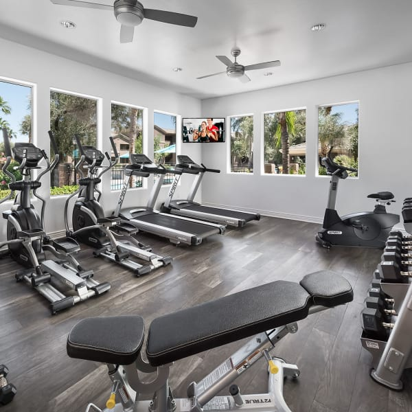 Sophisticated fitness center at Laguna at Arrowhead Ranch in Glendale, Arizona