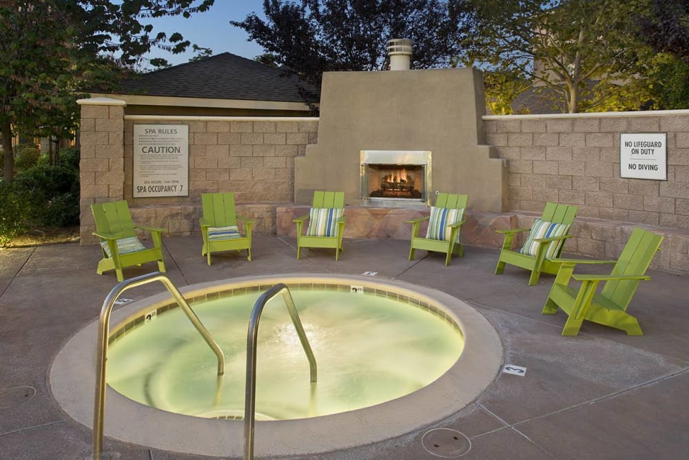Resort-style spa at Cross Pointe Apartment Homes in Antioch, California