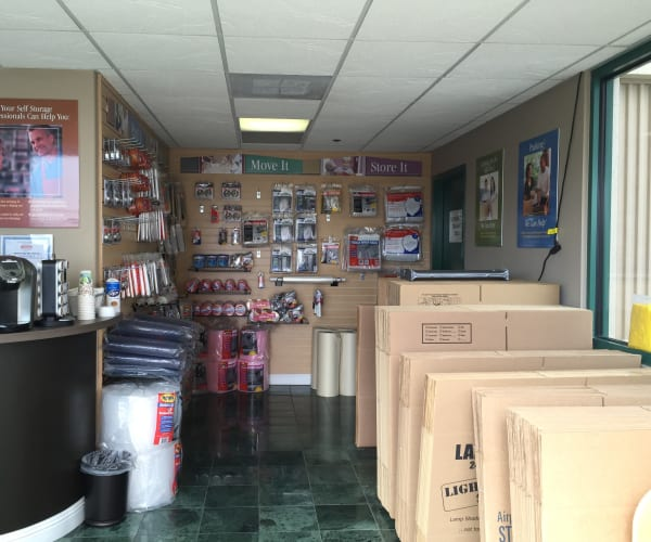 Packing supplies and boxes available for purchase at Airport Road Storage in Monterey, California