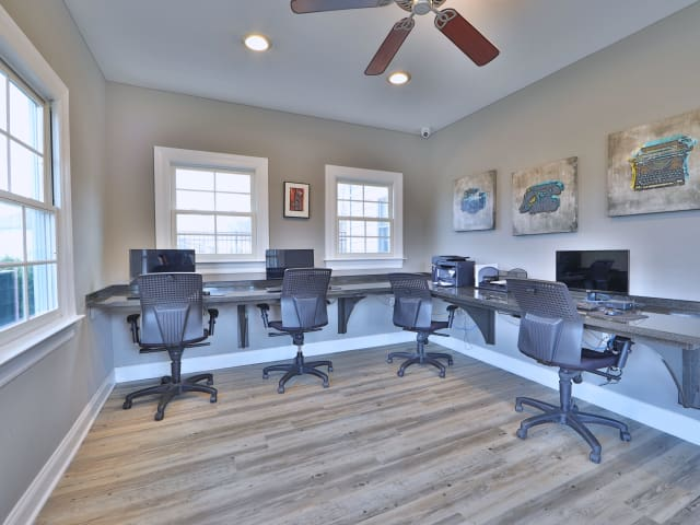 Media center at St. Mary's Landing Apartments & Townhomes
