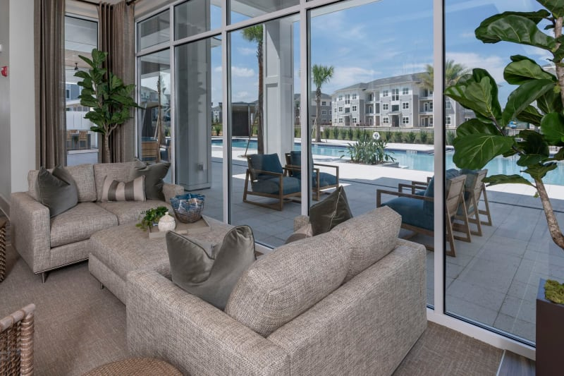 Community poolside clubhouse for residents at Reunion at 400 in Kissimmee, Florida
