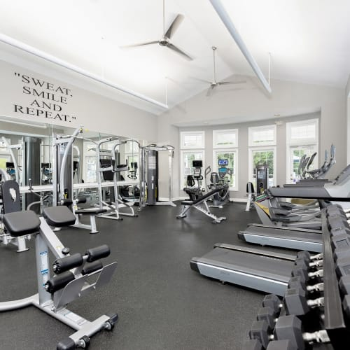 View virtual tour of our fitness center at Parc at 980 in Lawrenceville, Georgia