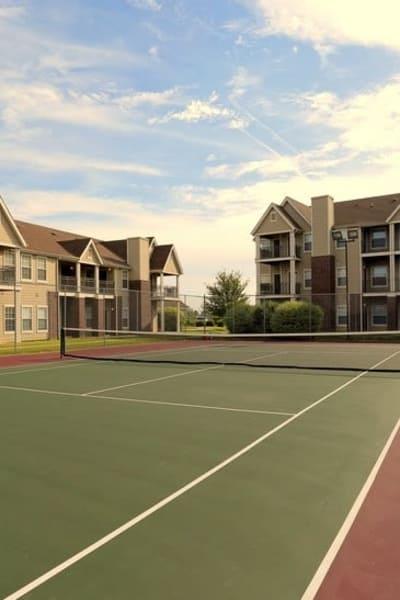 Tennis court at Harbin Pointe Apartments in Bentonville, Arkansas