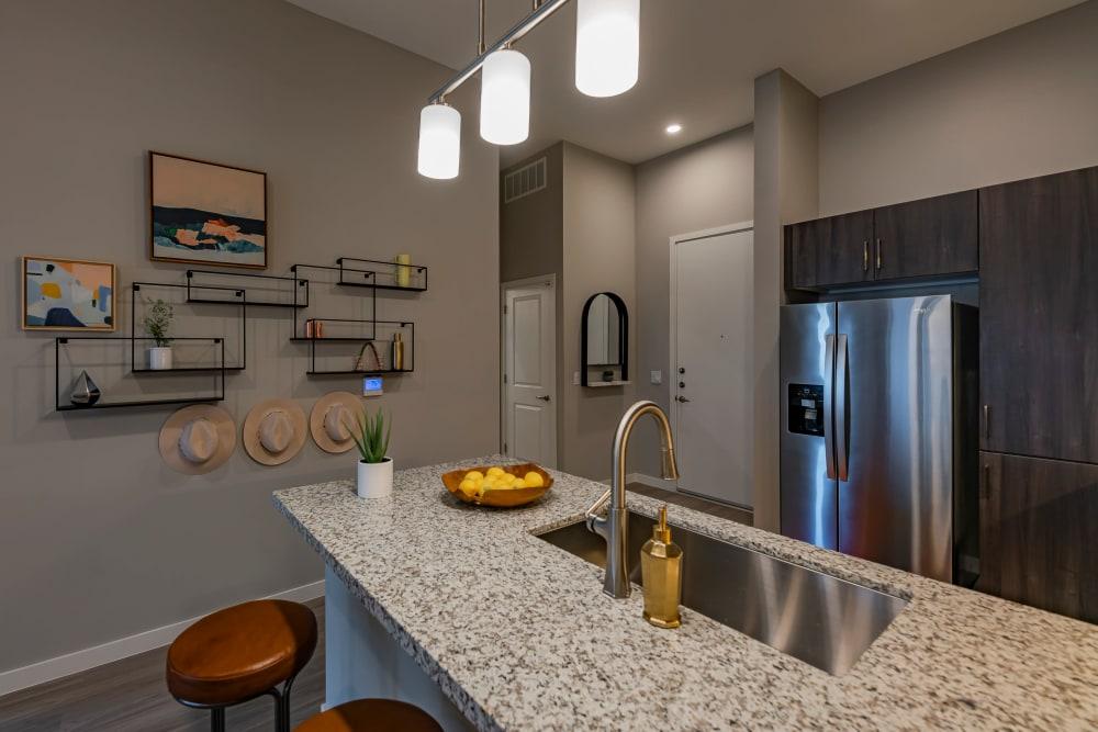 Kitchen island at Encore Tessera in Phoenix, Arizona