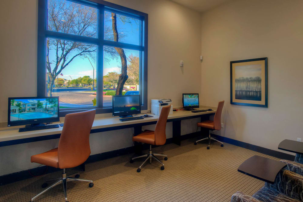 Business center at The Reserve at Gilbert Towne Centre in Gilbert, Arizona