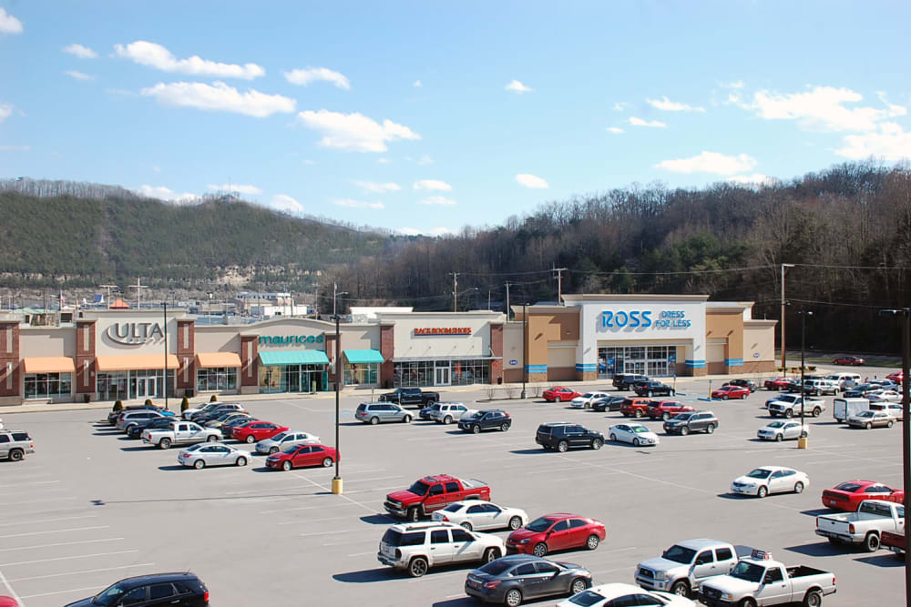 Available shops at Pikeville Commons Apartments in Pikeville, Kentucky