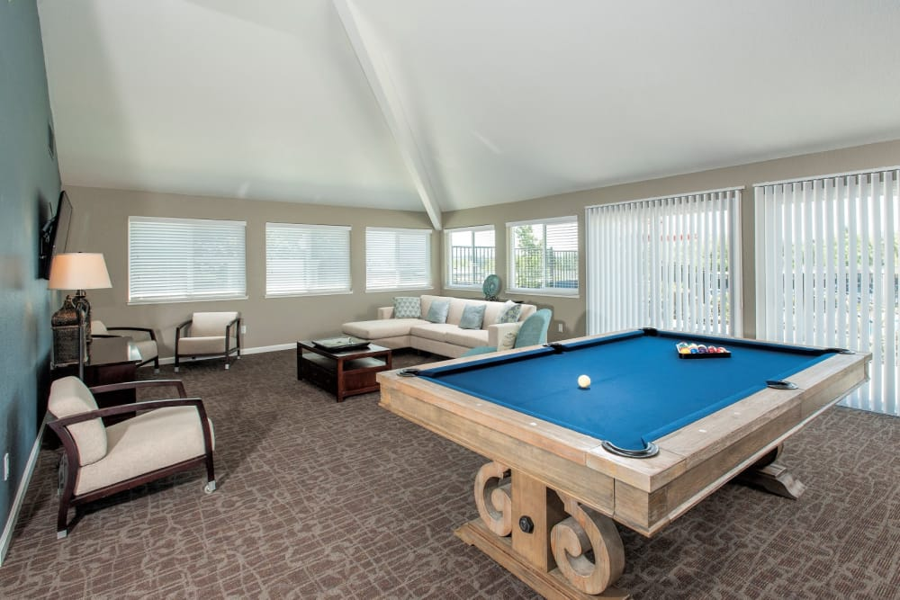 pool table at Ridgecrest Apartment Homes