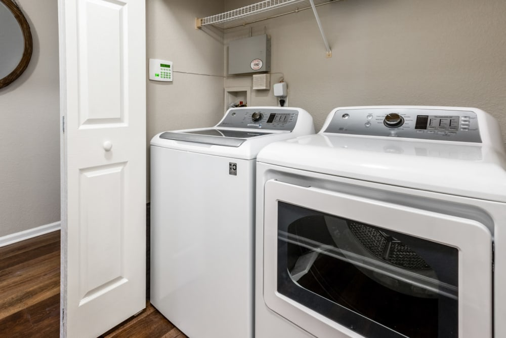 Full size energy efficient washer and dryer at The Links at Plum Creek in Castle Rock, Colorado
