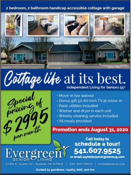 Cottage Life at Evergreen Senior Living