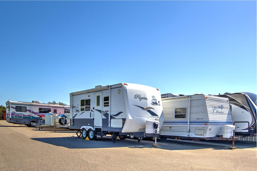 RV parking at Prime Storage in Virginia Beach, Virginia