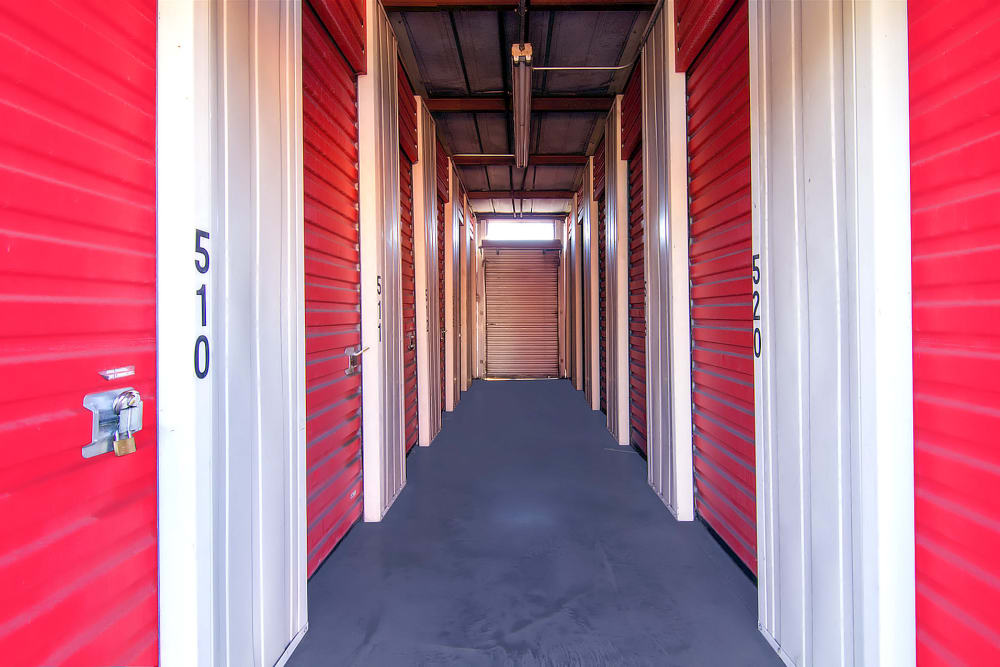 Indoor storage units at Prime Storage in Albany, NY