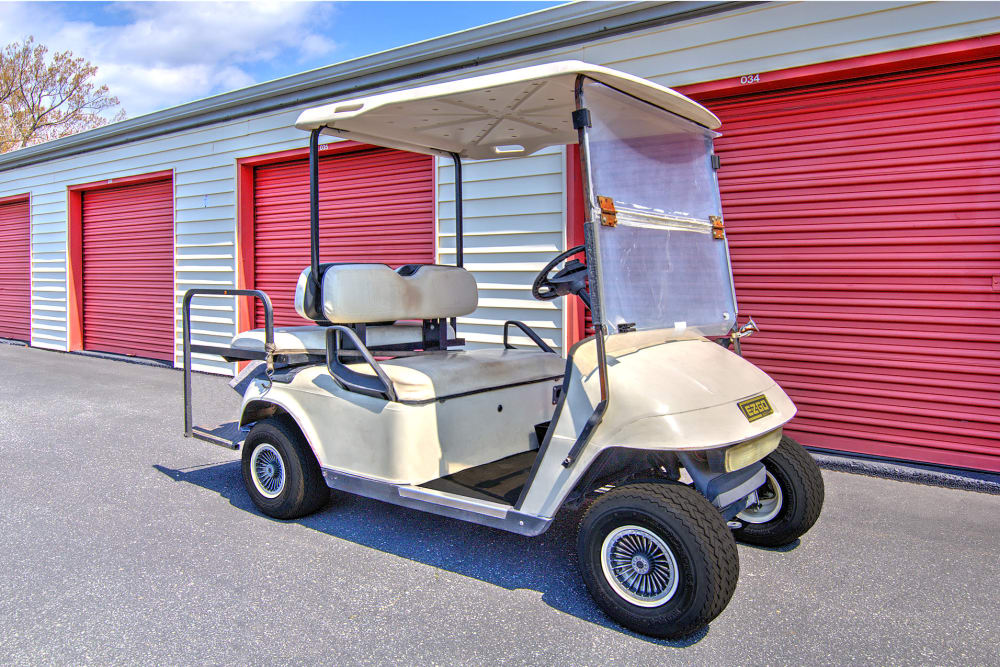 Golf cart at Prime Storage in Newport News, Virginia