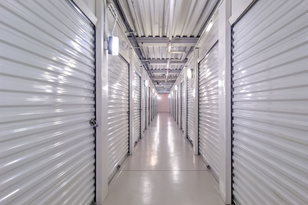 Indoor storage units at Prime Storage in Midlothian, Virginia