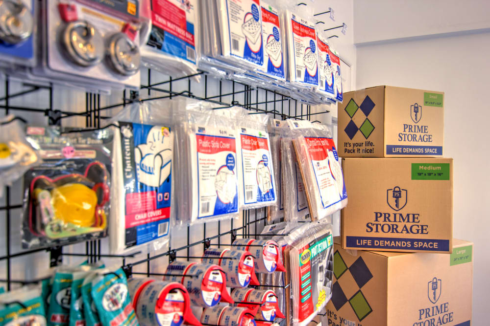 Packing supplies at A Safe Keeping Self Storage in North Cape May, New Jersey