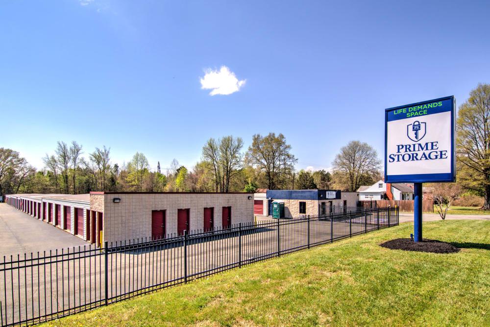 Sign at Prime Storage in Ashland, VA