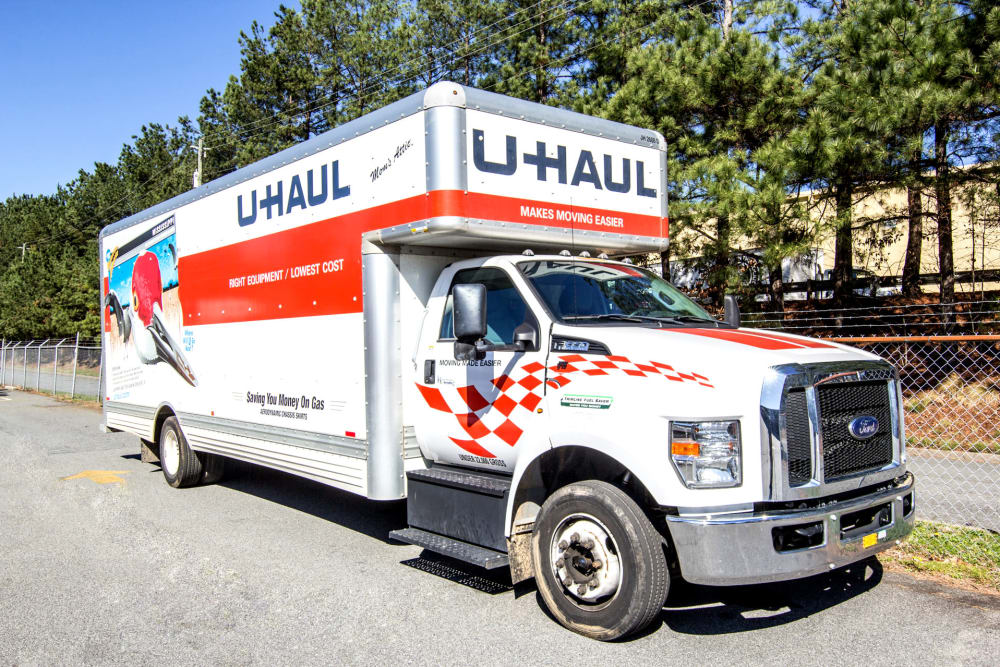 Prime Storage rents U-Haul trucks in Acworth, Georgia