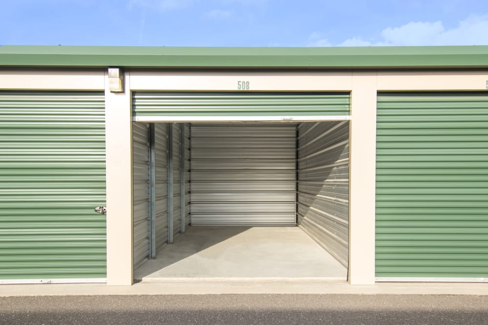 Outdoor storage units with roll up door On Site Storage in Hammonton, NJ